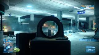 Battlefield 3 - An aboslutely EPIC Metro 64 player full round (M16A3 and .44 Magnum gameplay)