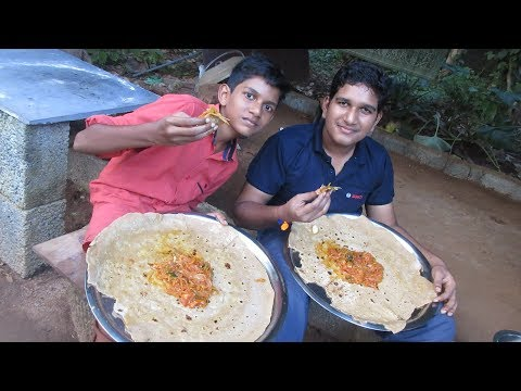 Village food factory /Big Chapati -Tomato Curry Cooking by my Family in my village / village cooking