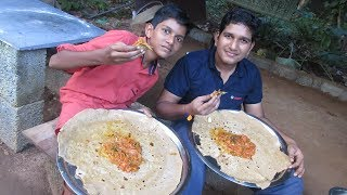 Village food factory /Big Chapati -Tomato Curry Cooking by my …