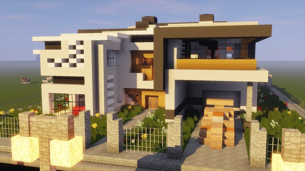 Visite D\'une Maison Moderne Dans Minecraft !!! - YouTube