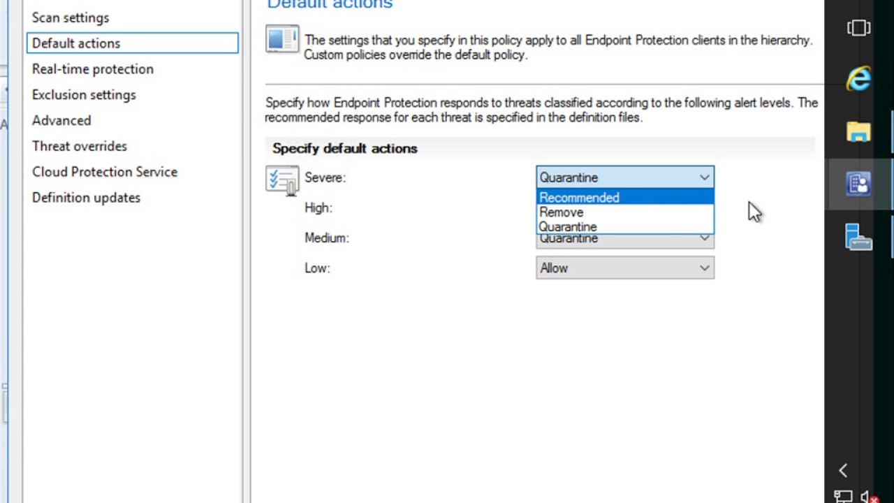 SCCM Current Branch - Configuring Endpoint Protection for Client Malware  Scanning