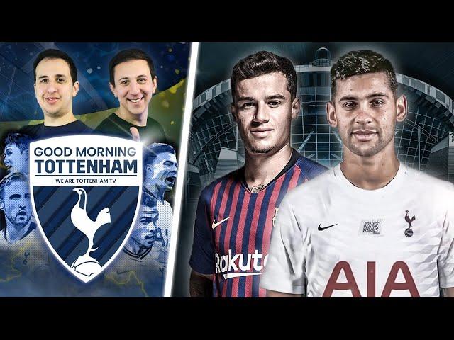 Cristian Romero flies into London • Spurs Interested In Coutinho [GOOD MORNING TOTTENHAM]