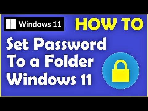 Windows 11 - How to Set Password to Folder