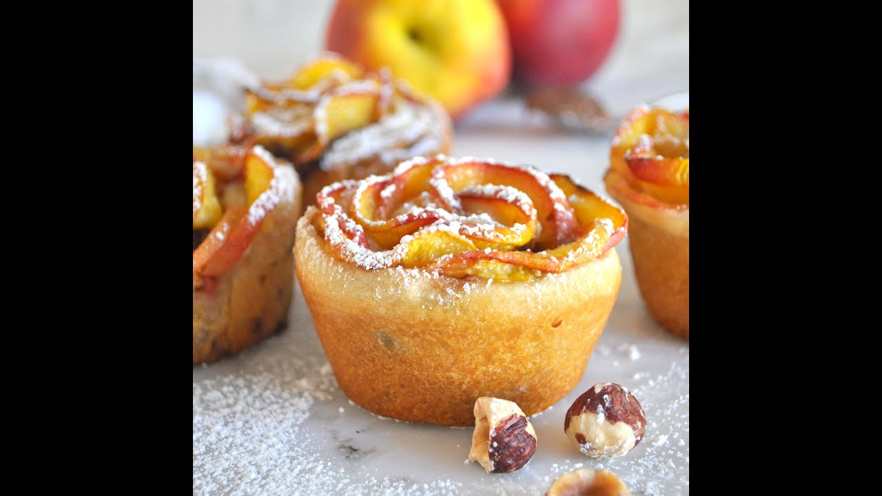 Red Glazed Cake With Apple