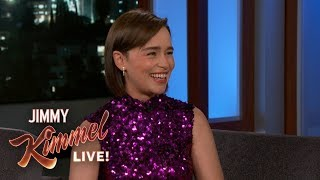 Emilia Clarke on Epic Game of Thrones Battle, Kit Harington &amp Riding Dragons