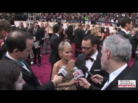 Kiristin Chenoweth & Dana Brunetti Talk w Ross Crystal On The Red Carpet @ The Oscars 2014