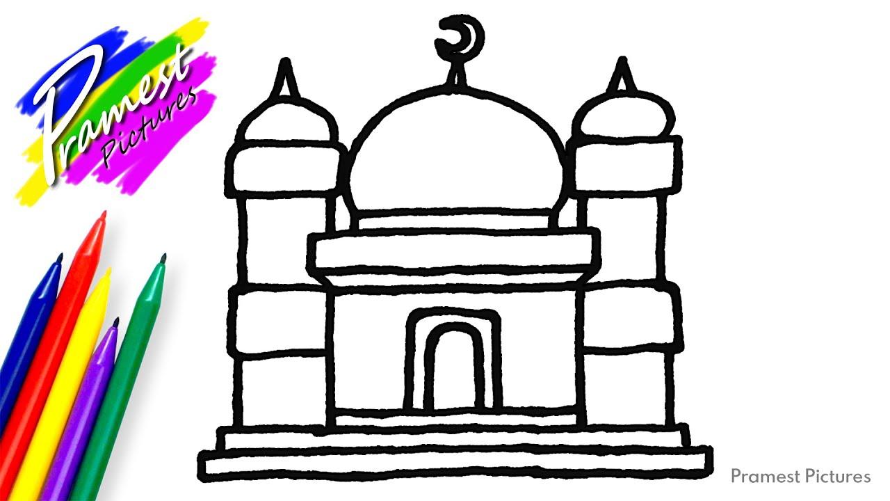 Belajar Menggambar dan Mewarnai Masjid