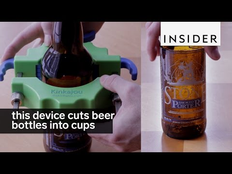 Device Cuts a Beer Bottle into a Glass