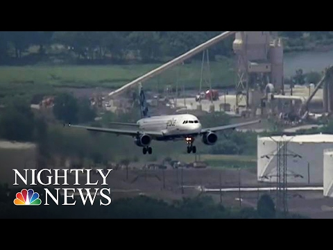 Dangerously Close Near Miss of Drone at JFK Airport | NBC Nightly News