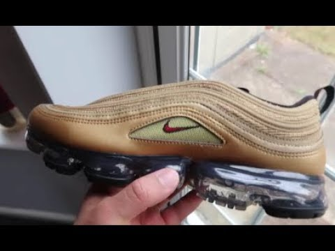 NIKE AIR VAPORMAX 97 METALLIC GOLD (REVIEW, UNBOXING, ON FOOT) 1 MONTH LATER