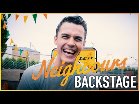 Neighbours Backstage - Andrew Morley plays B-ball