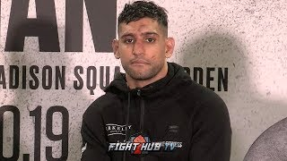 AMIR KHAN SPEAKS ON IF HE WILL CONTINUE FIGHTING AFTER LOSS TO TERENCE CRAWFORD