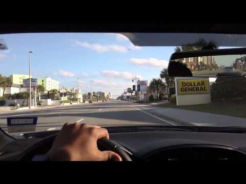 HD Driving on A1A Daytona Beach PivotHead Sunglasses Atlantic Avenue Scion FRS GT86
