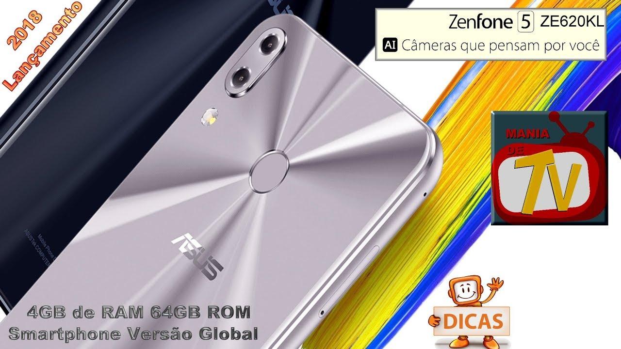 Asus ZENFONE 5 ZE620KL 4G Smartphone Versão Global