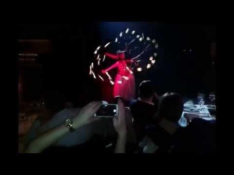 Fire Show At Yerevan Yans Club [ Hoop Dance, Led Wings ]