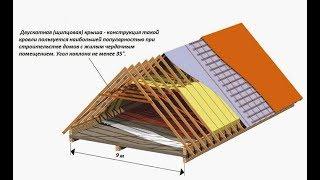 видео Конструкция крыши дома