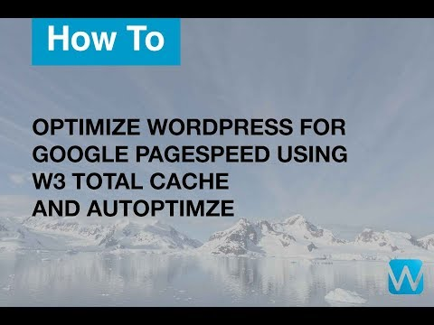 How To Optimize WordPress Using W3 Total Cache and Autoptimize For Google PageSpeed