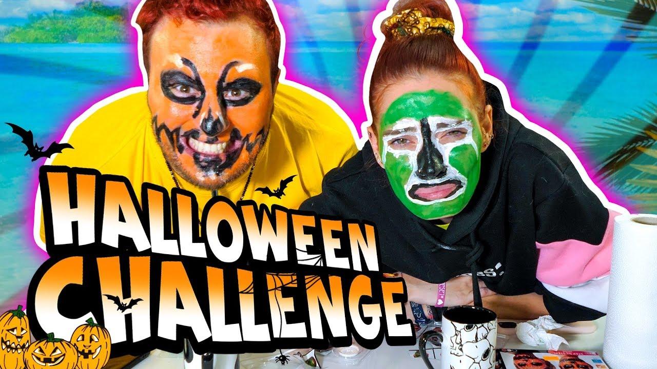 SFIDA DI TRUCCO CON SABRI per Halloween - YouTube