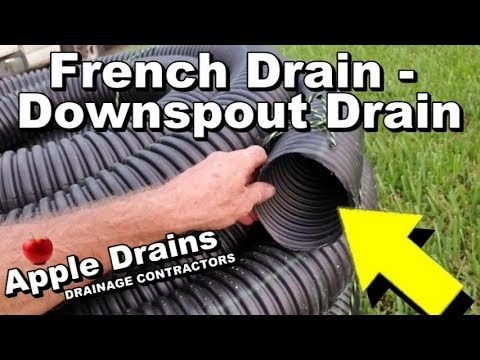 French Drain Install Downspout With Sump Pump Attached Diy