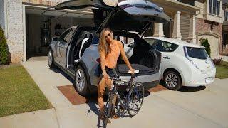 Is it possible? Road Bike inside Model X.