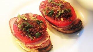 Broiled Ham & Tomato Open Faced Sandwich recipe