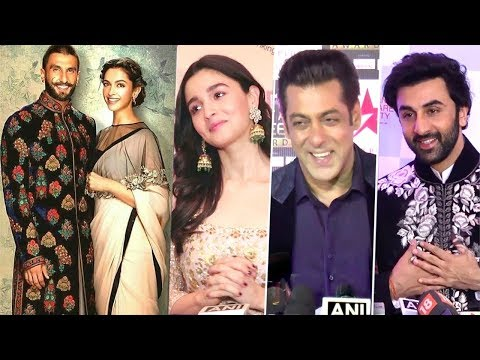 Bollywood Celebs Latest Reaction on Ranveer Singh Deepika Padukone's Dream WEDDING In Italy
