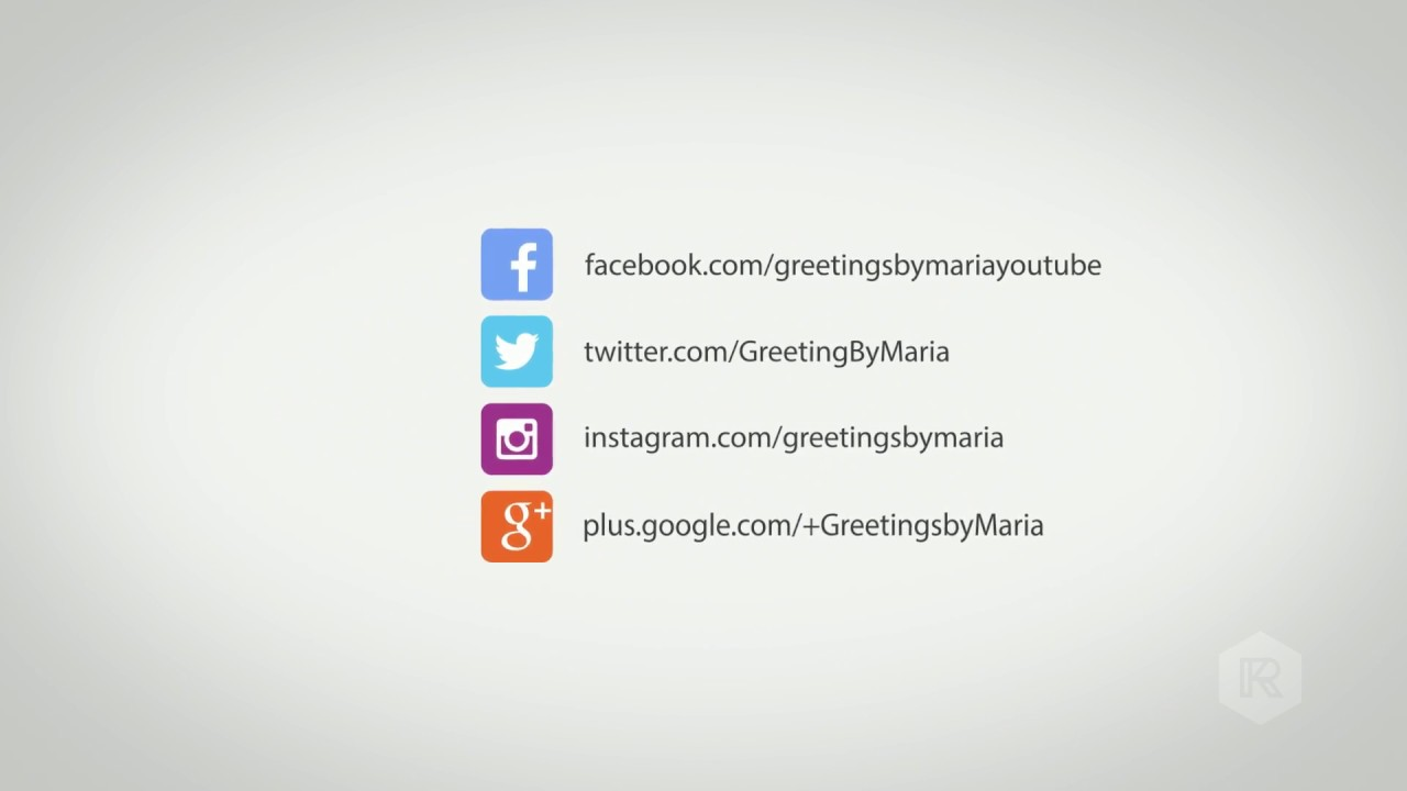 Follow Us Everywhere Facebook Twitter Google Plus Instagram Greetingsbymaria Youtube