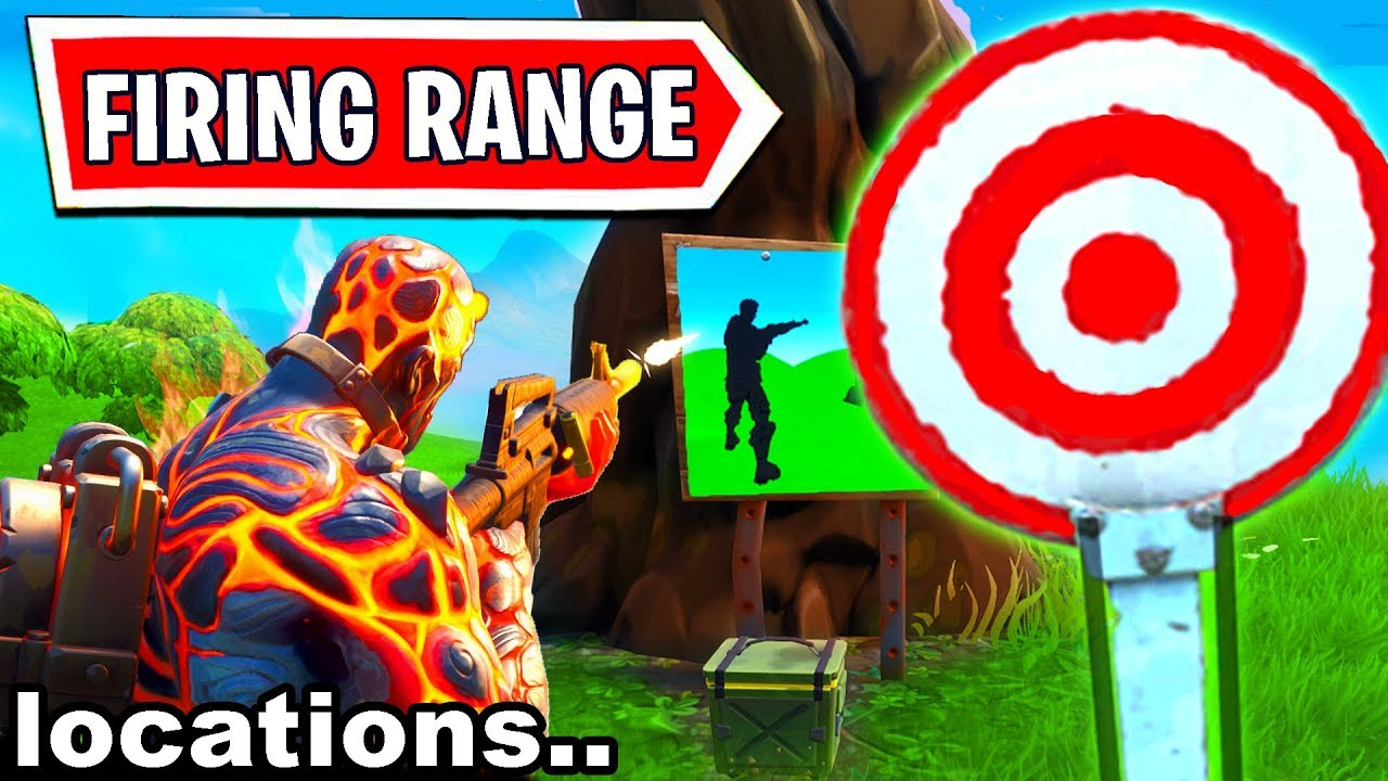 Geming Hit Easy Firing Range Target Location Fortnite