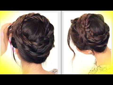 ★-summer-hairstyles-|-cute-crown-braid-tutorial-|-updo-hairstyle