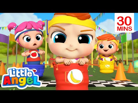 Come On Let's Race, Race, Race! + More Nursery Rhymes | Little Angel Kids Songs