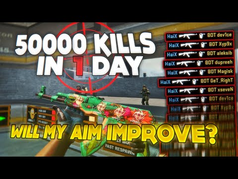 50.000 BOTS IN 1 DAY - HOW WILL MY AIM CHANGE? (THE HARDEST AIM CHALLENGE)