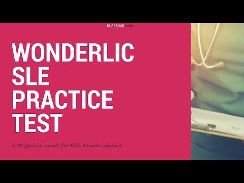 Wonderlic SLE Practice Questions
