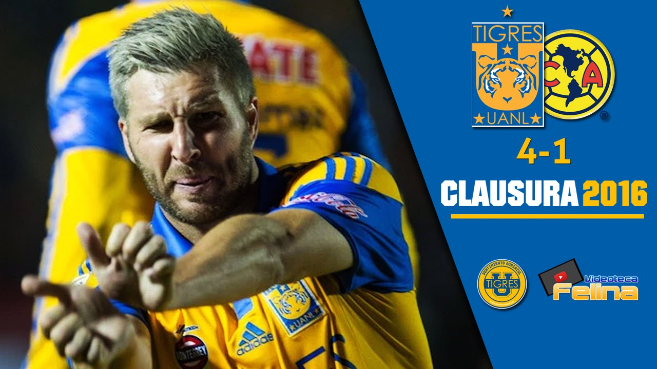 Tigres Vs America 4 1 Resumen Jornada 8 Clausura 2016 Liga