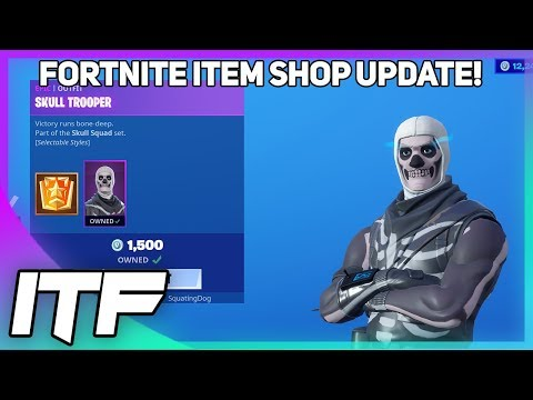 Fortnite Item Shop UPDATE: *RARE* SKULL TROOPER IS BACK! (Fortnite Battle Royale)