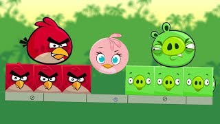 Angry Birds Kick Piggies - FIGHTING EACHOTHER TO TAKE ROUND STELLA!