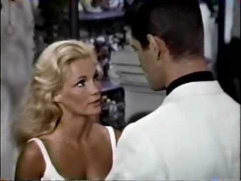 Yvette Mimieux in white Bikini with Stephen Boyd