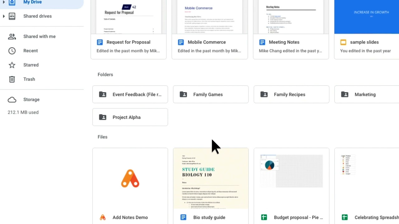 How to: Star files in Google Drive