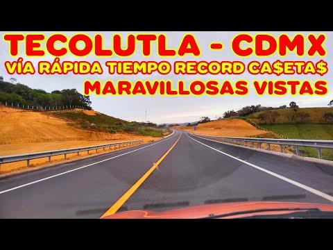 TECOLUTLA Veracruz - CDMX - Vía rápida - Llegamos en 3 horas y media