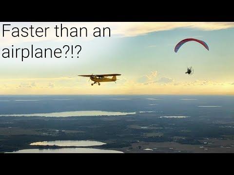 Paramotor Vs. Airplane!!!