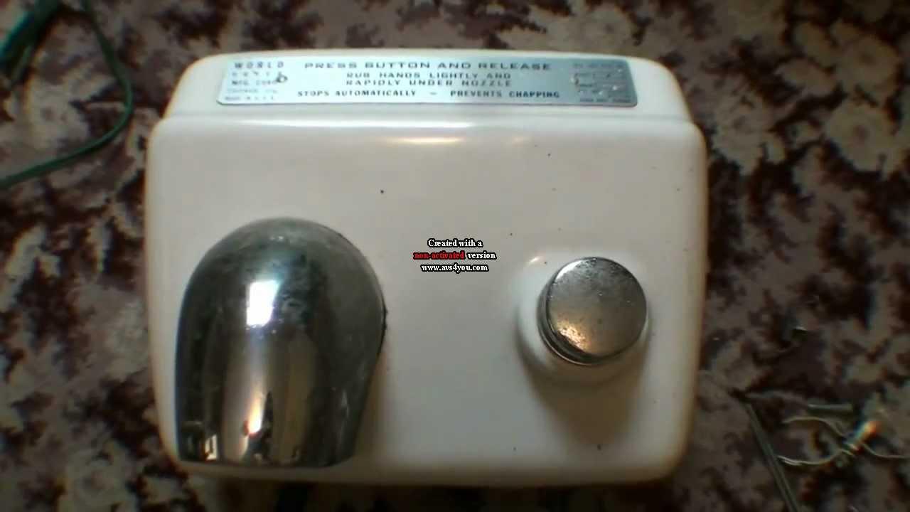 Vintage World Hand Dryer  YouTube