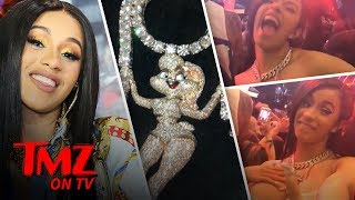 Cardi B Wore $400k in Diamonds At Coachella | TMZ TV