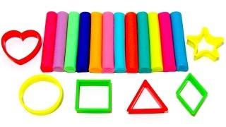 Учим фигуры на английском языке с пластилином Play-Doh.