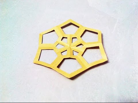 How to make a kirigami paper snowflake - 4 | Kirigami / Paper Cutting Craft, Videos and Tutorials.