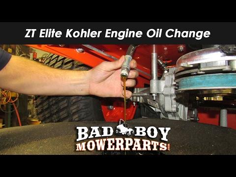 ZT Elite Kohler Engine Oil Change YouTube