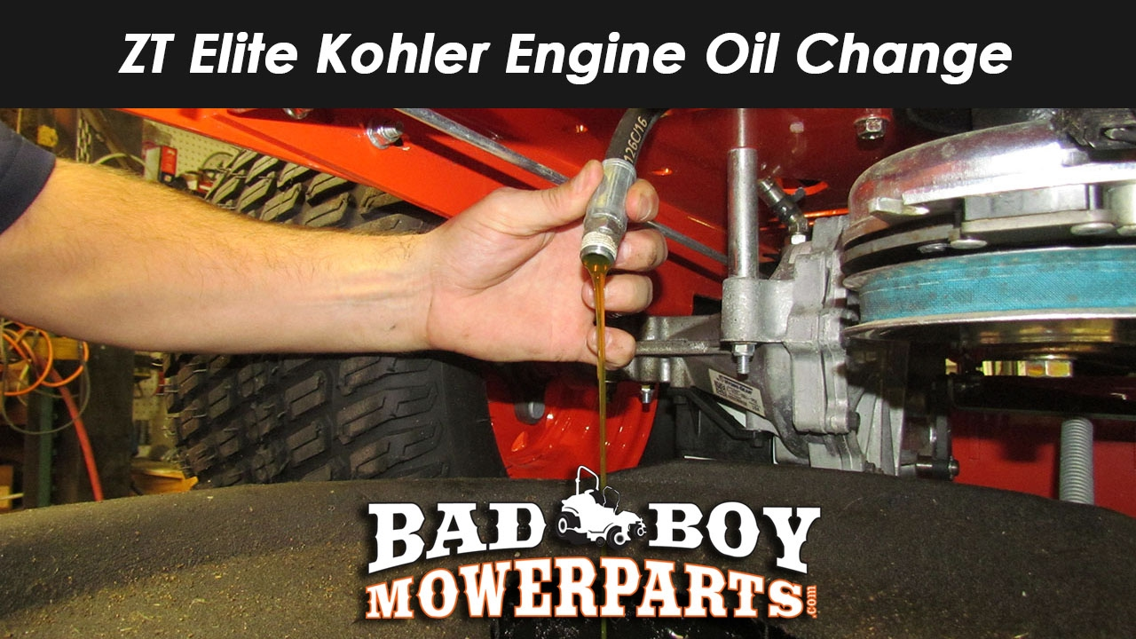 ZT Elite Kohler Engine Oil Change