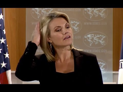 WATCH: US State Department Press Briefing with Heather Nauert on Iran and North Korea