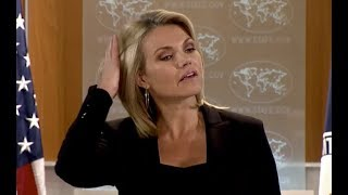 WATCH: US State Department Press Briefing with Heather Nauert on Iran and North Korea 2017 Video