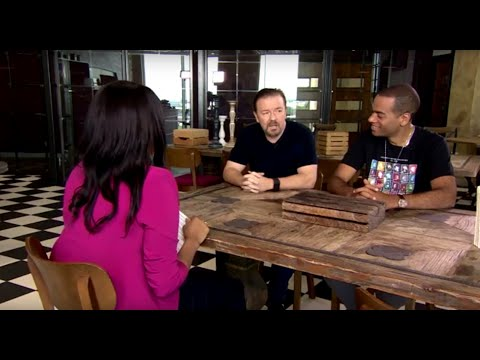 Ricky Gervais and Ben Bailey Smith on their new movie DAVID BRENT: LIFE ON THE ROAD