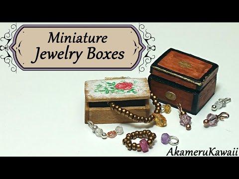 Miniature Jewelry Boxes - Dollhouse Tutorial