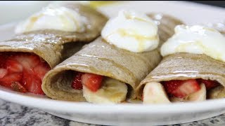 Banana Berry Crepes | Cheap Clean Eats